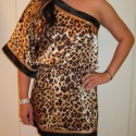 LeopardOneShoulderDress