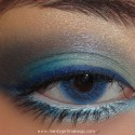 MACBlueMakeupLook