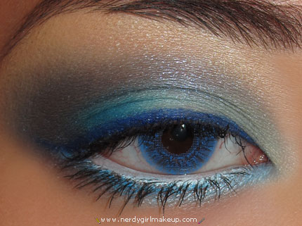 soft blue eyeshadow