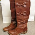 AnthropologieLeatherBowBoots
