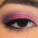 BrightPurpleAndPinkMakeupLook
