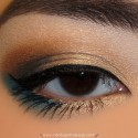 GoldBrownAndTealMakeupLook