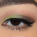 LightGreenAndPinkMakeupLook