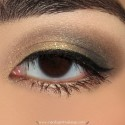SparklyGoldBrownAndBlackMakeupLook